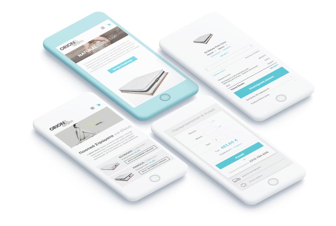 Mobile eShop mockup Magento eCommerce