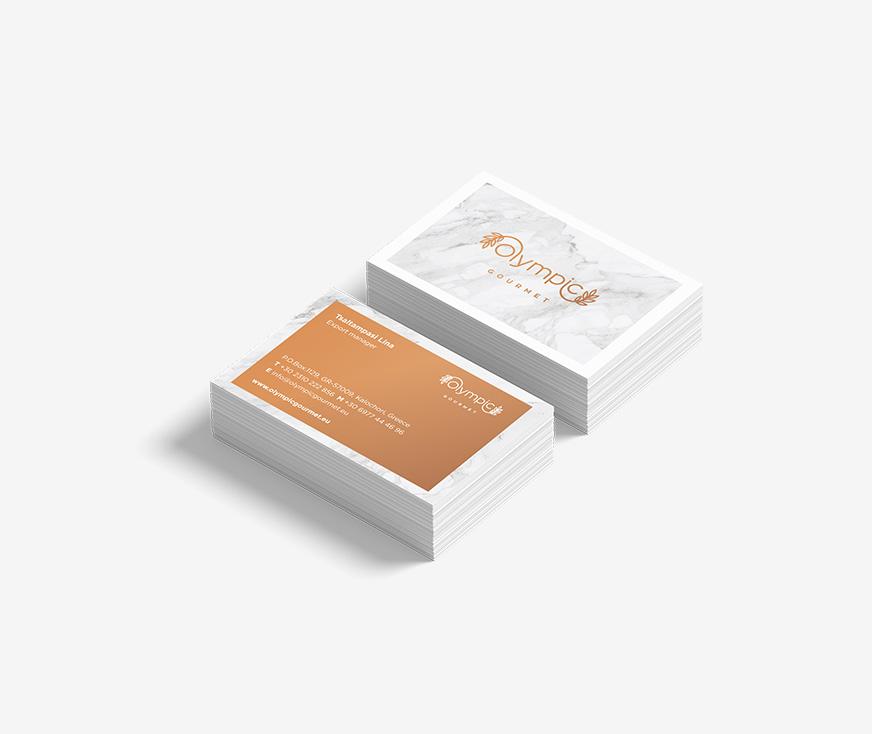 Σχεδιασμός εταιρικής κάρτας Olympic Gourmet