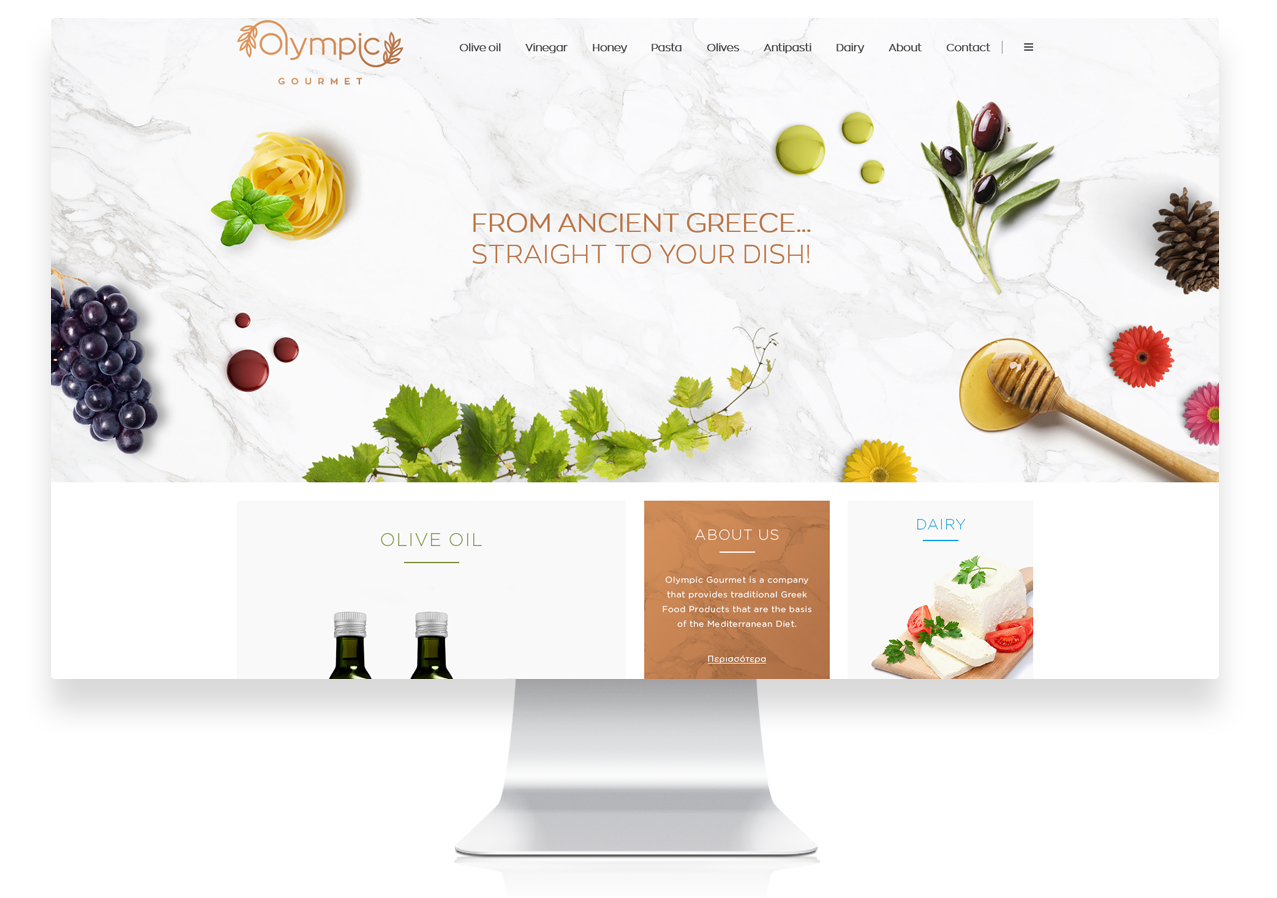 Website Homepage for Olympic Gourmet Thessaloniki