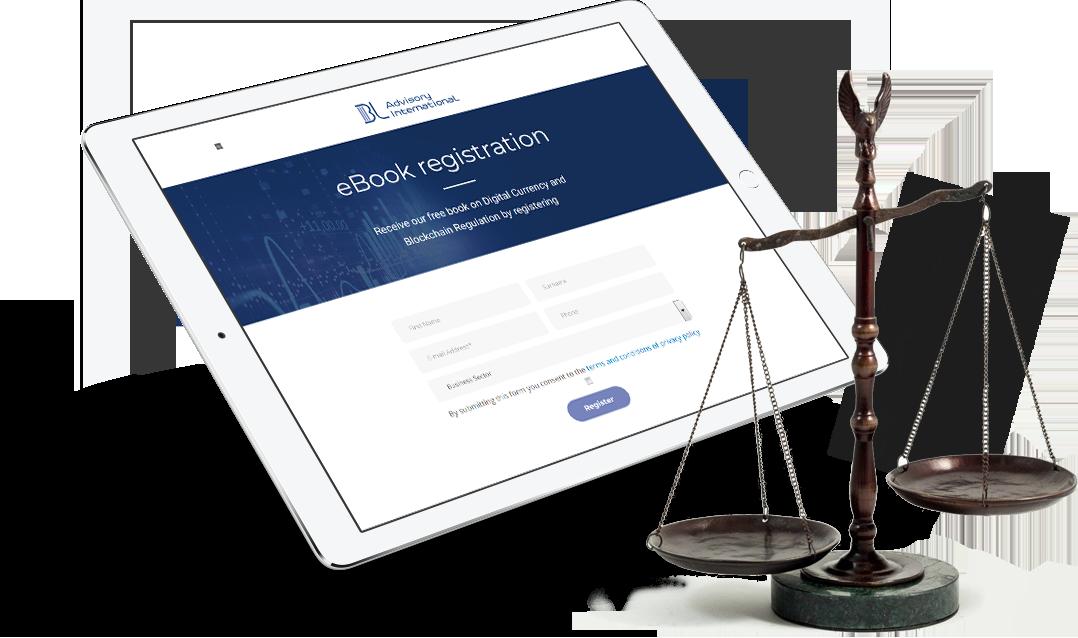 Blockchain Wordpress Website - Tablet view