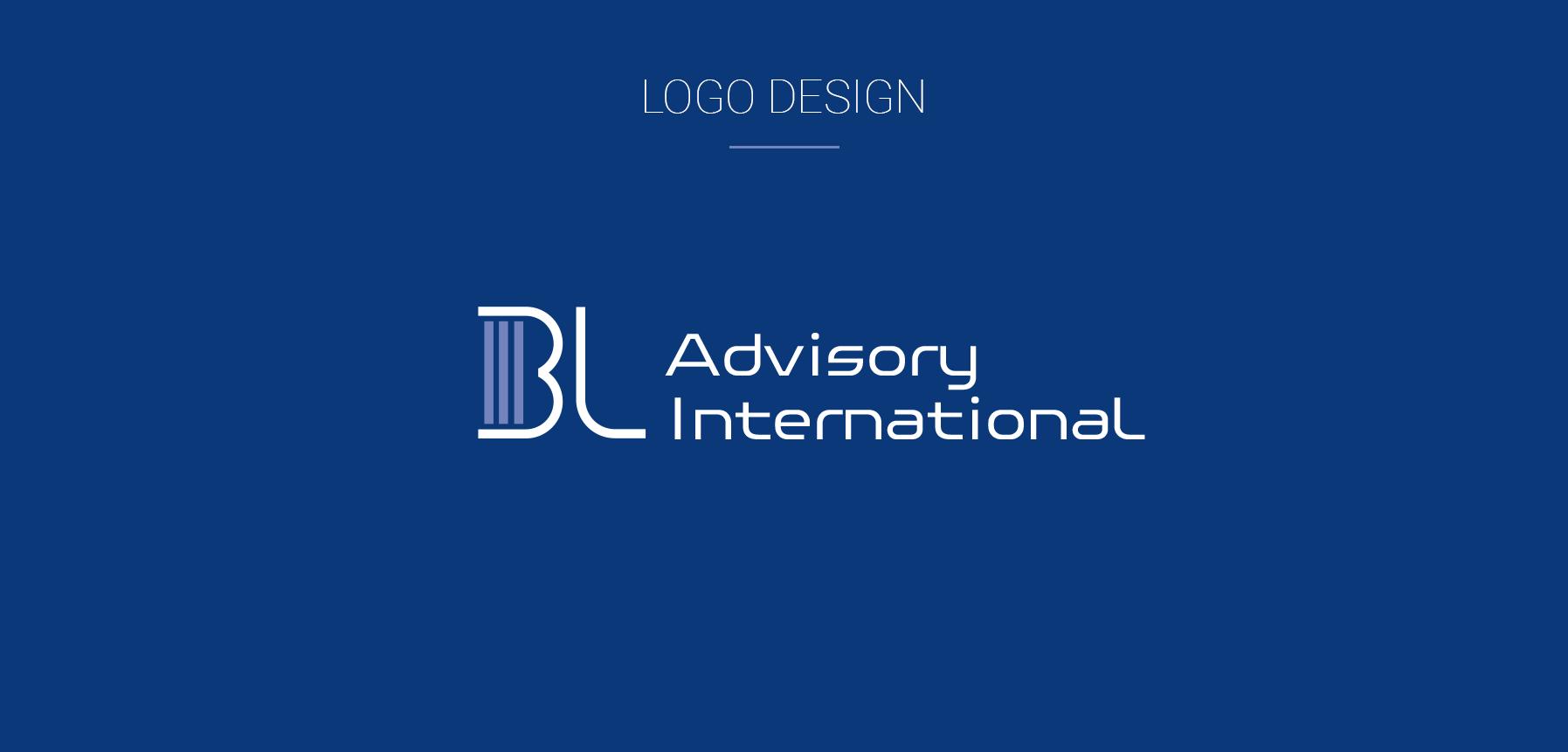 Blockchain Logo design BLA International