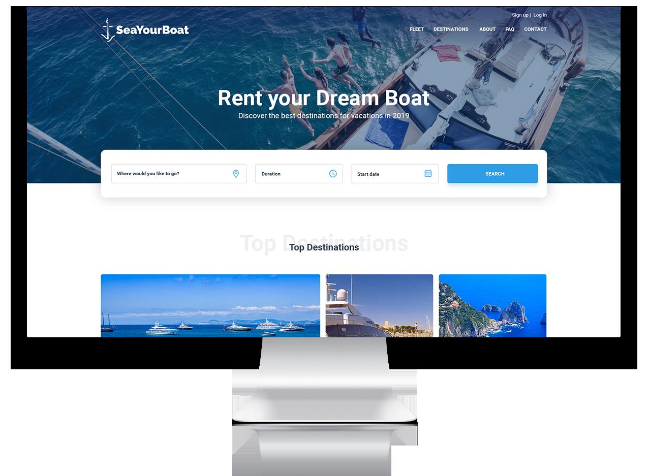 Seayourboat - Αρχική σελίδα του νέου eshop
